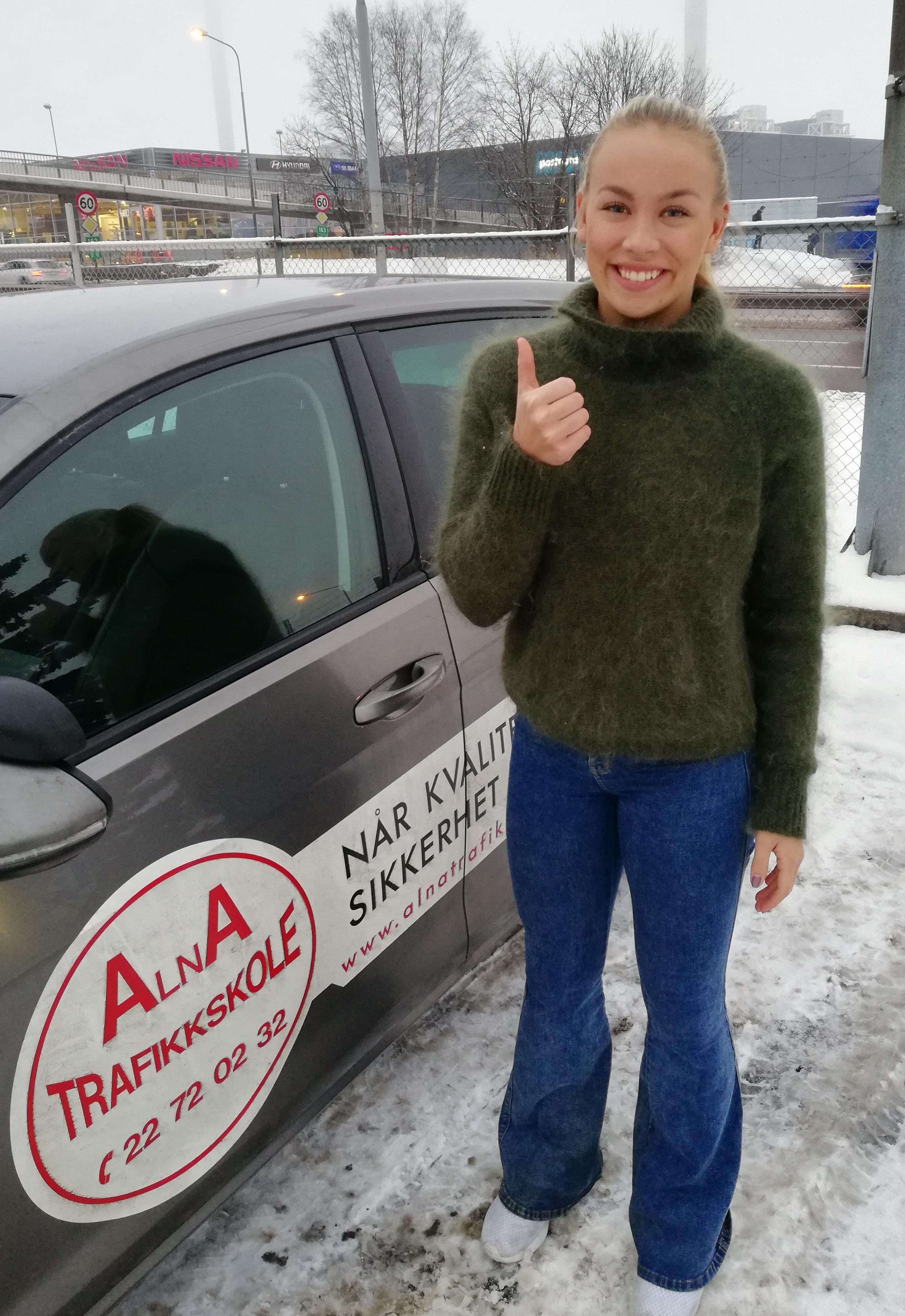 Anna Bakken Worpvik, ta lappen, Alna Trafikkskole